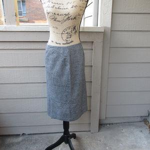 Brooks Brothers Classic grey 100% wool skirt Sz 22